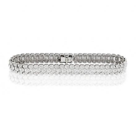 9K White Gold 1.00ct Diamond Bracelet, G1328